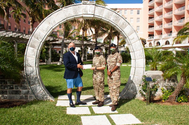 Tim and Regiment Bermuda Oct 21 2020