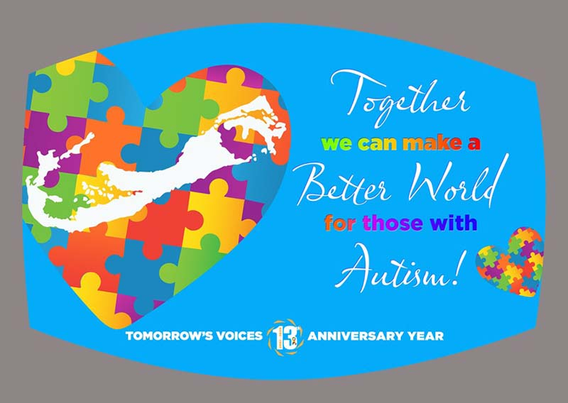 """Tomorrow's Voices' """"Mask Up In Honour Of Autism"""" Bermuda Oct 2020 6"""