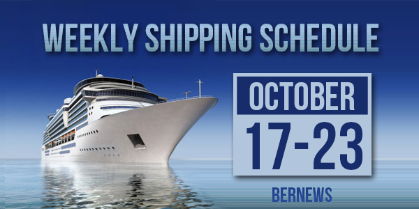Weekly Shipping Schedule TC Oct 17 -23 2020