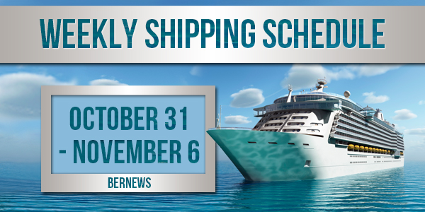 Weekly Shipping Schedule TC Oct 31 - Nov 6 2020