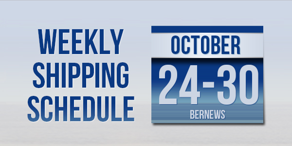 Weekly Shipping Schedule TC October 24 - 30 2020