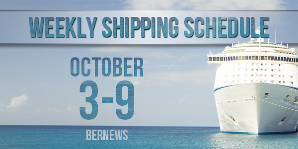 Weekly Shipping Schedule TC October 3-9 2020