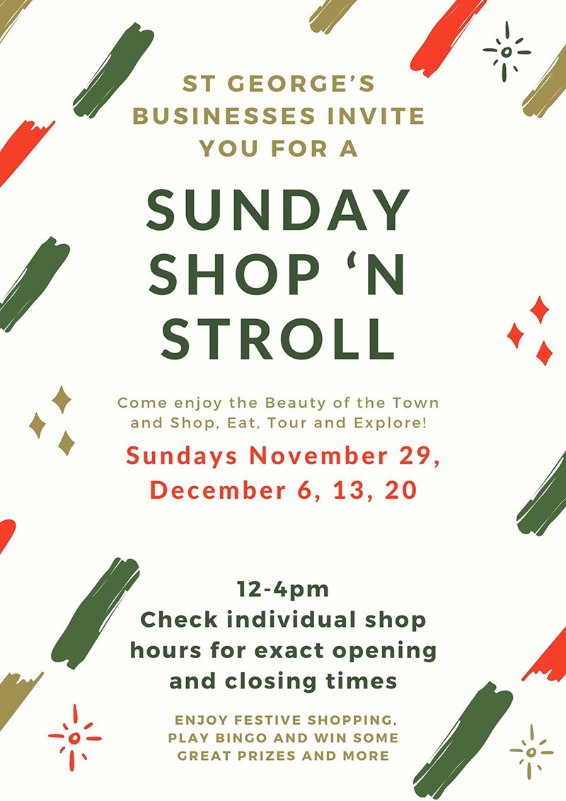 'Sunday Shop 'N Stroll' Event In St. George's Bermuda November 2020