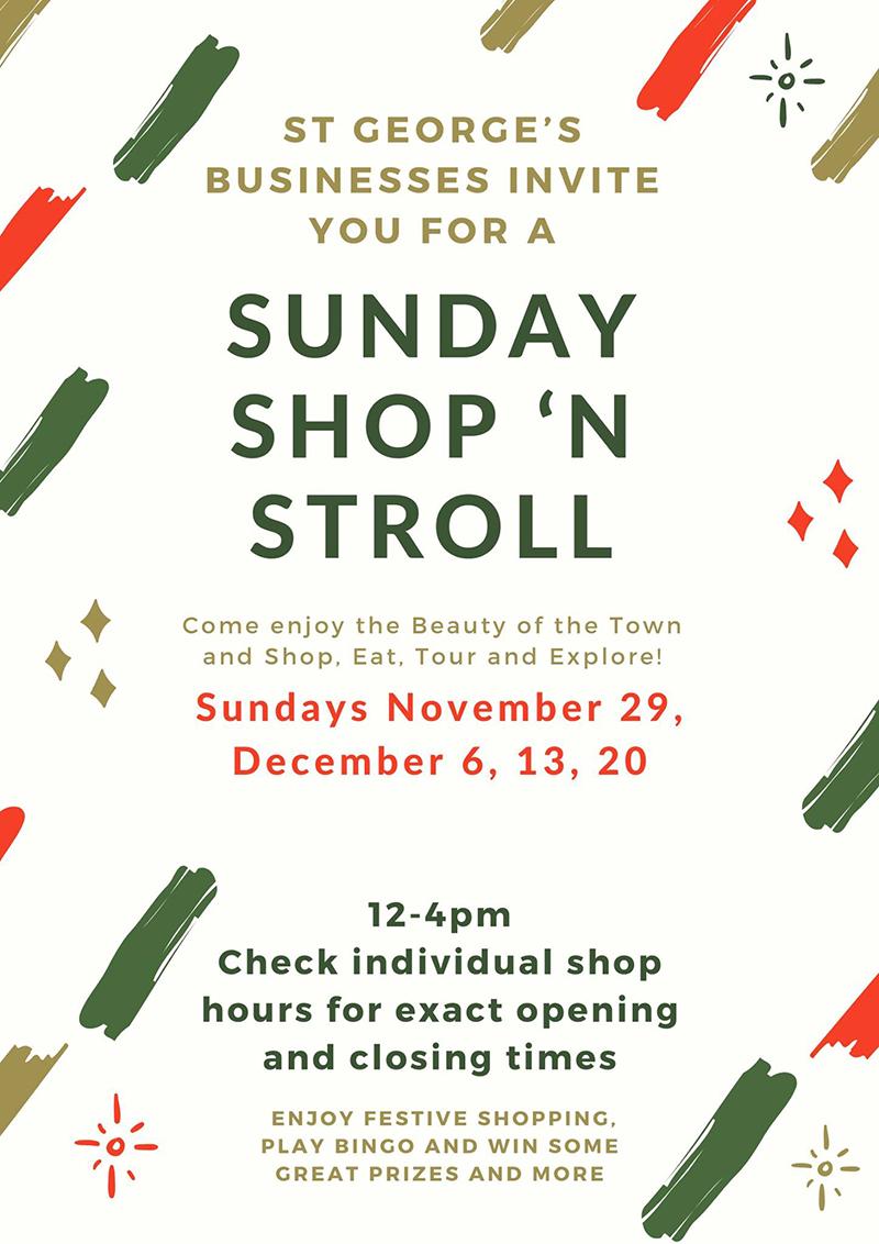 'Sunday Shop 'N Stroll' Event In St. George's Bermuda November 2020