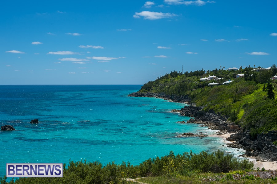 813 - Looking over Church Bay and down the gorgeous South Shore of Bermuda