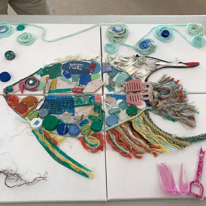 Angel Fish Artwork At Govt House Bermuda November 2020 1