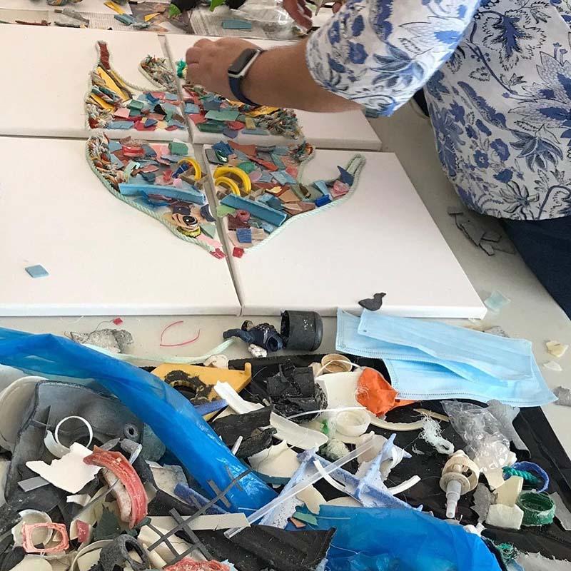 Angel Fish Artwork At Govt House Bermuda November 2020 3