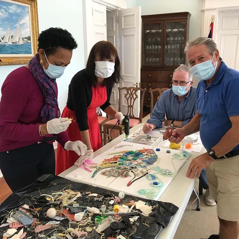 Angel Fish Artwork At Govt House Bermuda November 2020 5