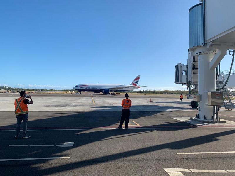 BA plane at the new terminal Bermuda Nov 2020 (1)