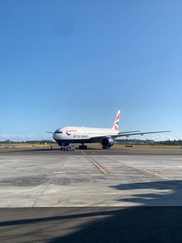 BA plane at the new terminal Bermuda Nov 2020 (4)