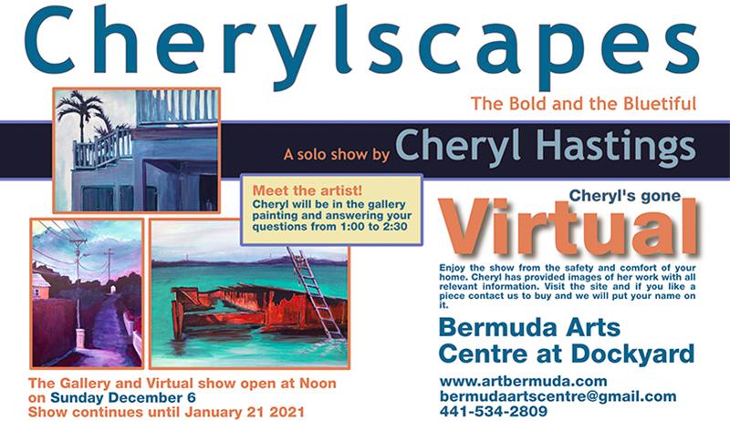 Cheryl Hastings Solo Show Bermuda November 2020