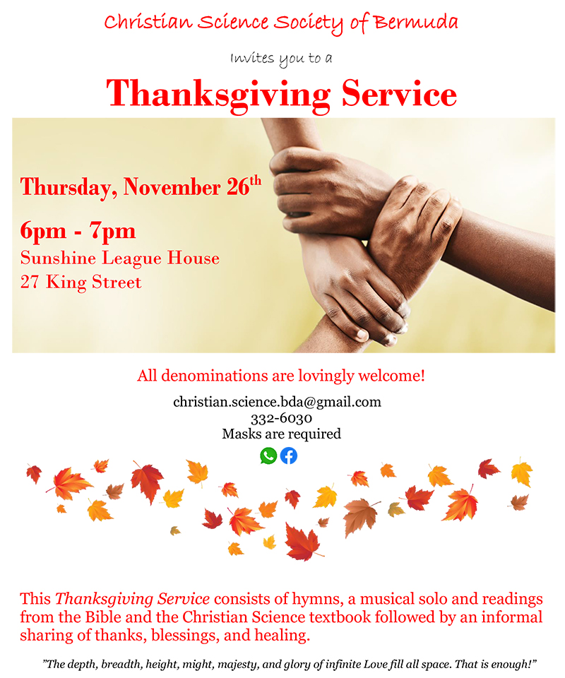Christian Science Society Thanksgiving Service