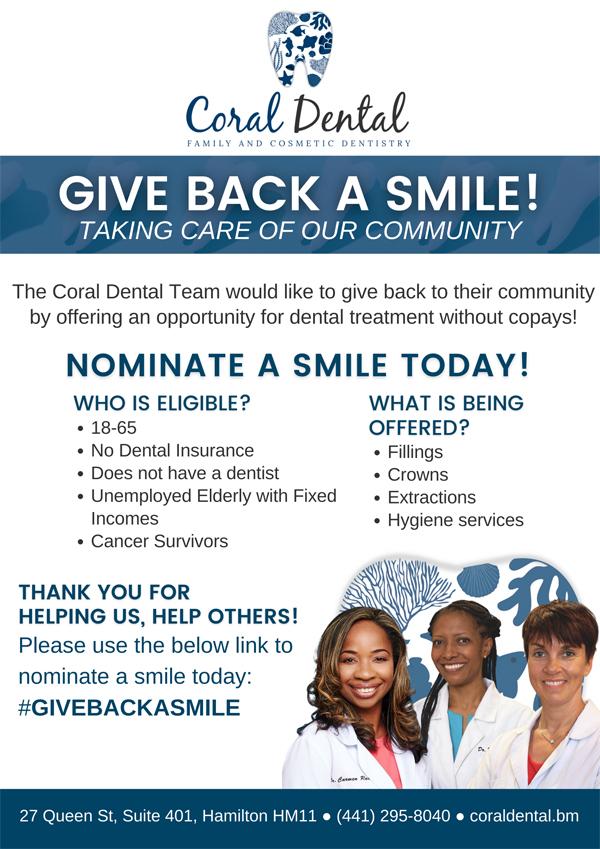 Coral Dental Give Back A Smile Bermuda Nov 2020