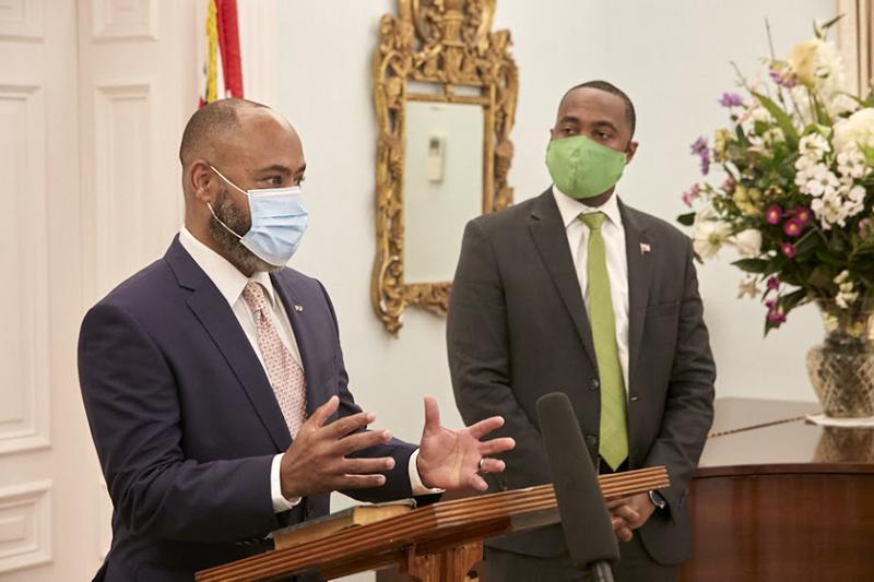 Dr Ernest Peets Sworn In As Minister Bermuda Nov 9 2020 (1)