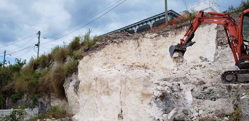 Ewing Street Rock Cut Project Bermuda Nov 2020 3