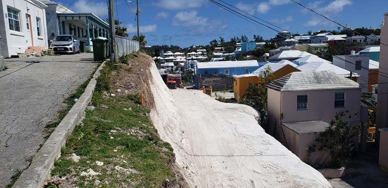Ewing Street Rock Cut Project Bermuda Nov 2020 4