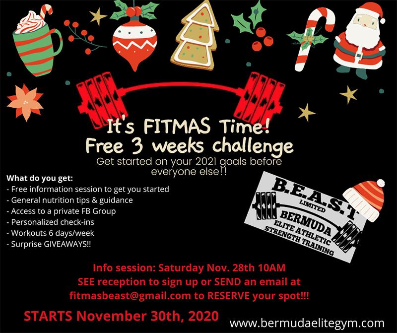 FITMAS Beast Challenge Bermuda November 2020
