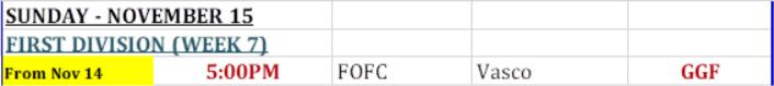 First Division Bermuda Nov 2020