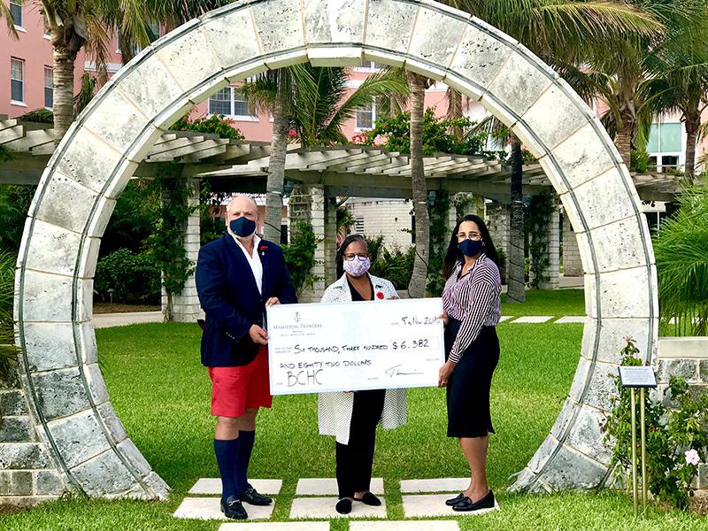 Hamilton Princess Donates To BCHC Bermuda Nov 2020 1