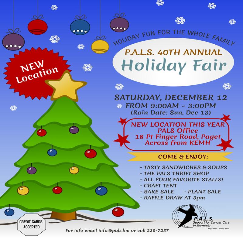 PALS Holiday Fair and Raffle Bermuda Dec 2020