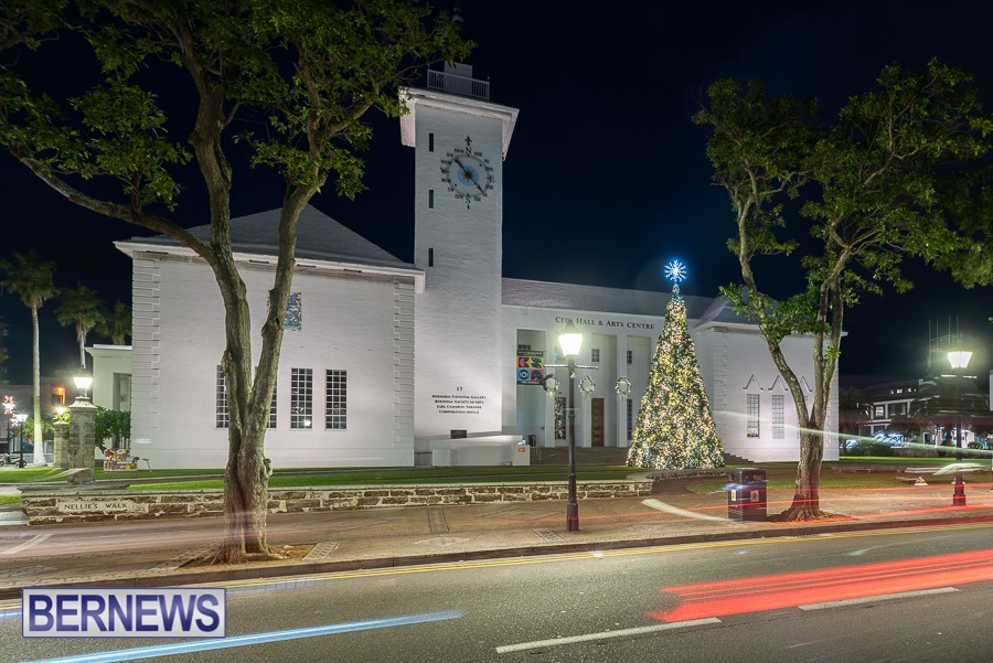 263 - City Hall looks beautiful with the Christmas tree lit out front