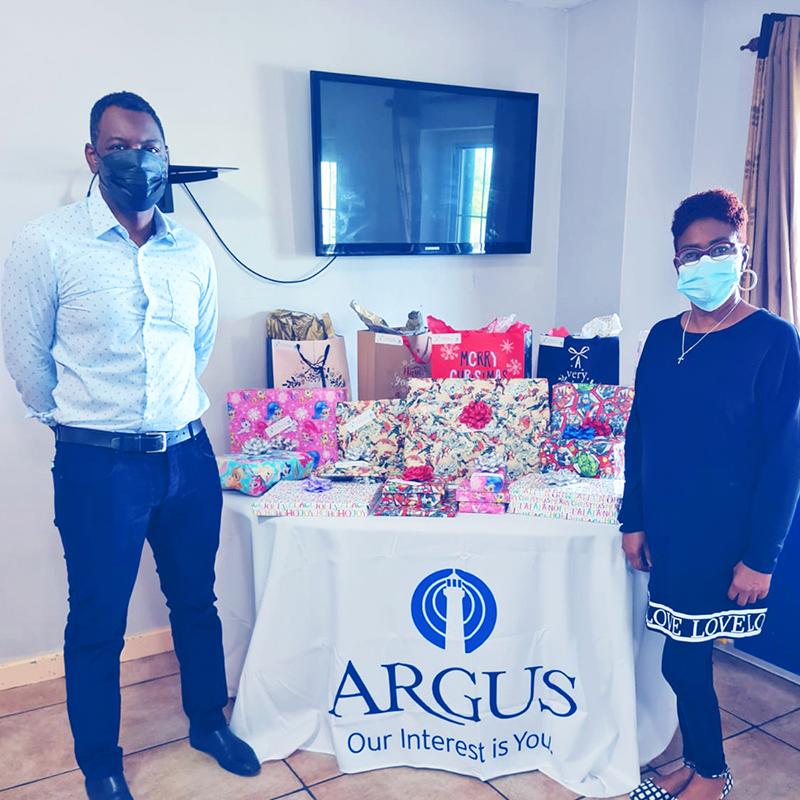 Argus Celebrates The Holidays With Teen Haven Bermuda Dec 2020