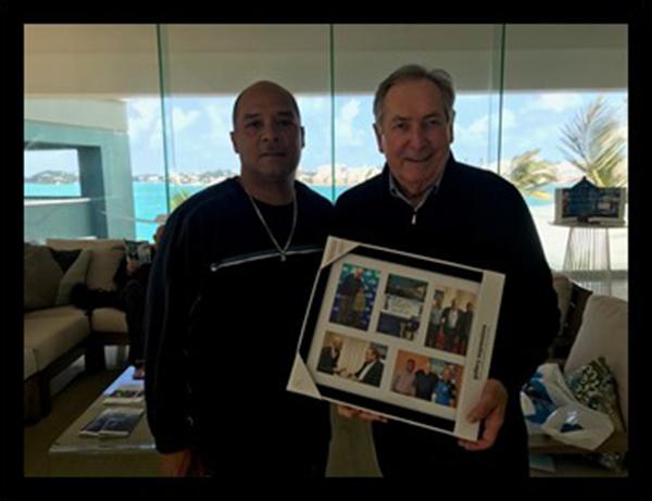 BFCA President Richard Todd & Gerard Houllier Bermuda Dec 2020