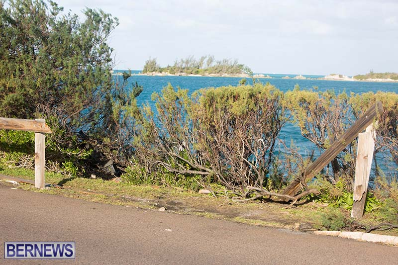 Car Overturned West End Sailboat Club Bermuda Dec 2020 10
