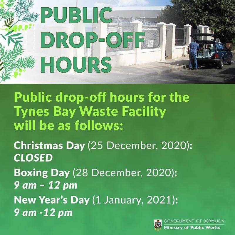 Drop-off Hours Bermuda Dec 2020