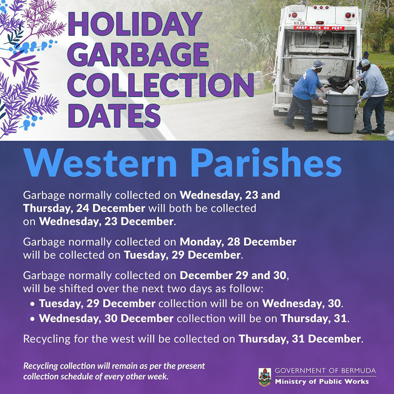 Holiday Garbage Collection Dates Bermuda Dec 2020 (1)