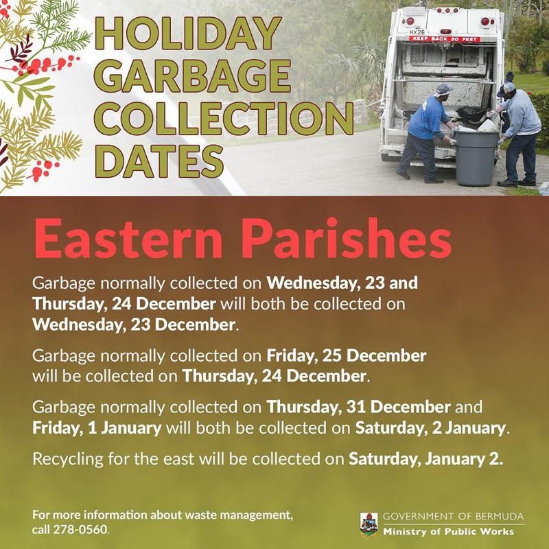 Holiday Garbage Collection Dates Bermuda Dec 2020 (2)