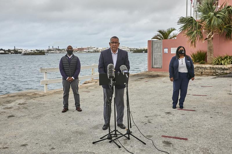 Minister David Burch press conference Bermuda Dec 2020 (2)