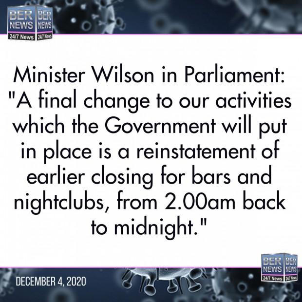 Minister Wilson bermuda Covid rules Dec 4 2020 (2)
