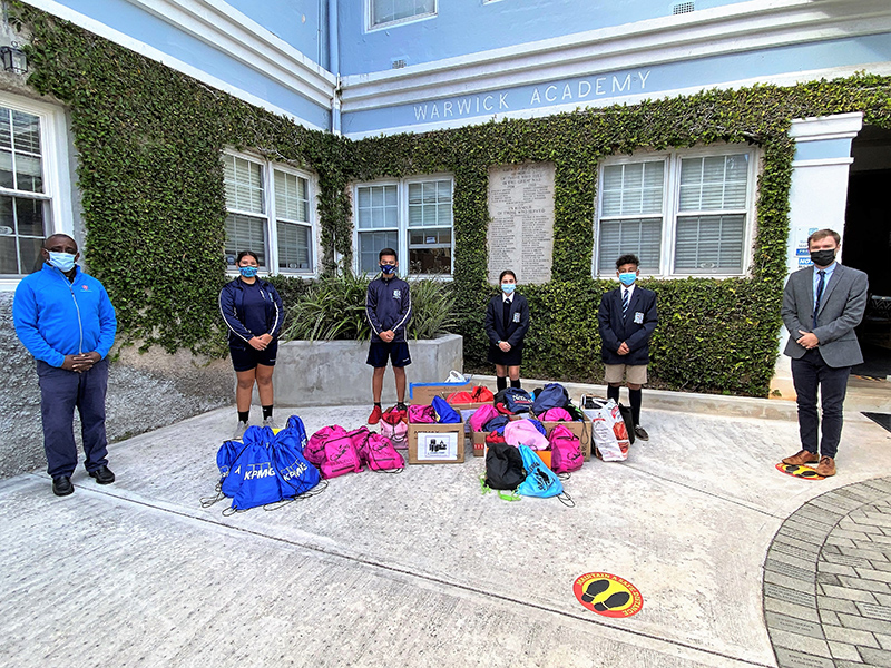 Warwick Academy Donates To Charities Bermuda Dec 2020 1