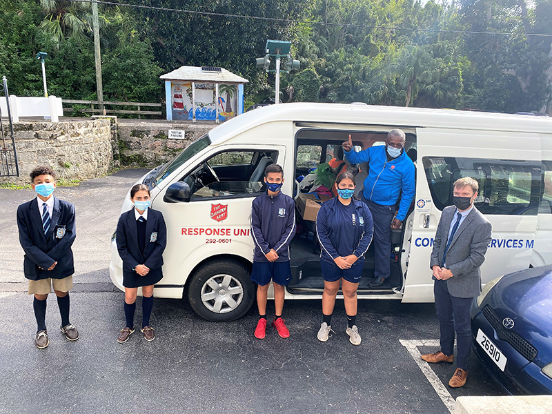 Warwick Academy Donates To Charities Bermuda Dec 2020 2