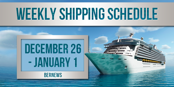 Weekly Shipping Schedule TC Dec 26 - Jan 1 2021