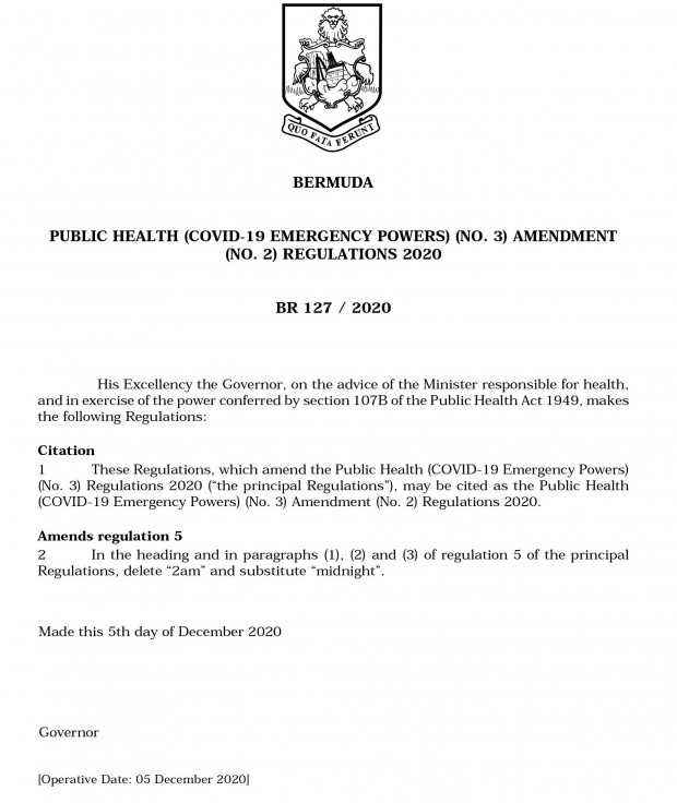 covid rules dec 5 2020