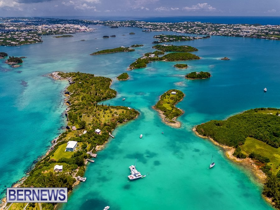 316 - The amazing blues and greens of the many Bermuda islands