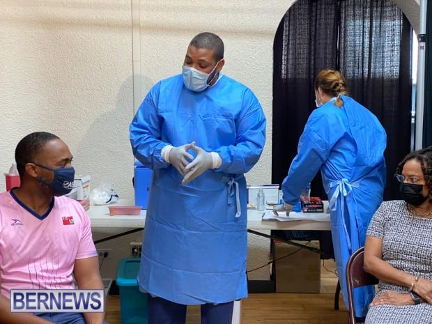Bermuda officials get first coronavirus vaccine Jan 11 2021 (1)