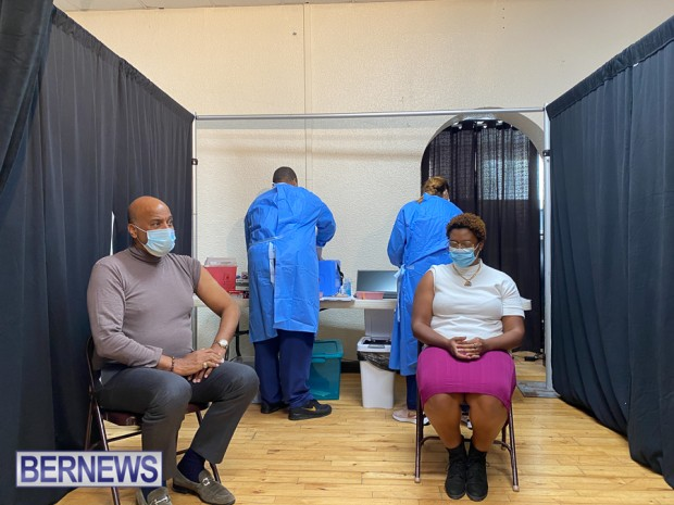 Bermuda officials get first coronavirus vaccine Jan 11 2021 (2)