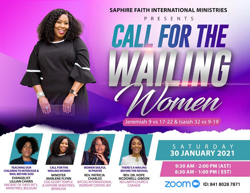 Call For The Wailing Women Conference Bermuda Jan 2021