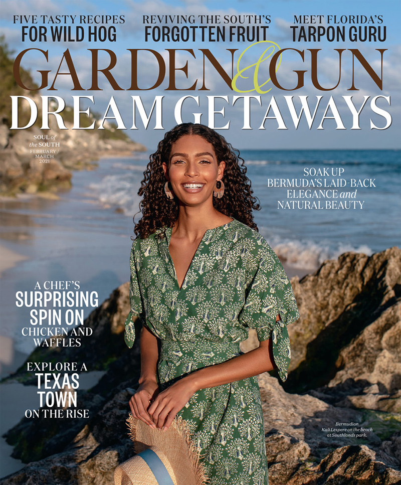 Garden & Gun Magazine Features Bermuda Jan 2021