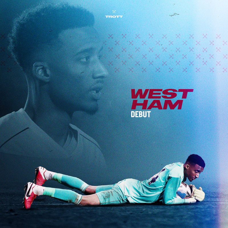 Nathan Trott West Ham Debut January 2021