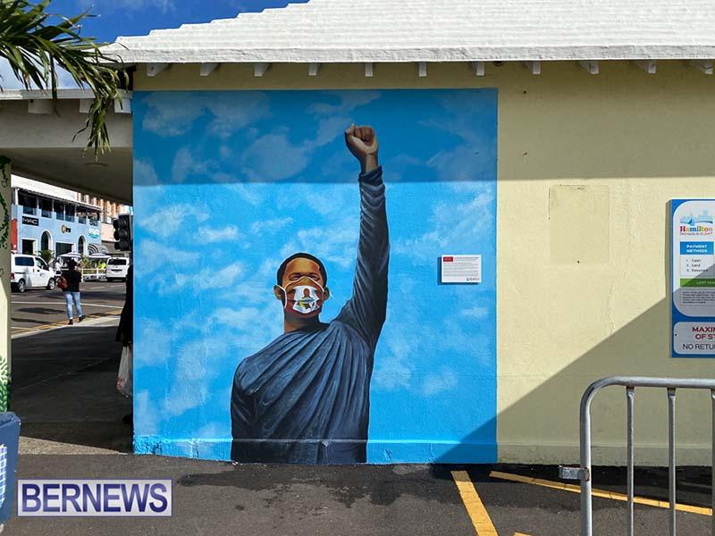 Peaceful Art Protest Mural Bermuda Jan 2021 1