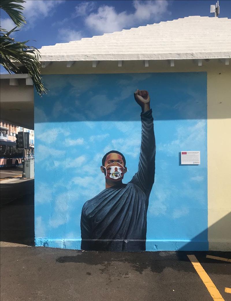 Peaceful Art Protest Mural Bermuda Jan 2021 10