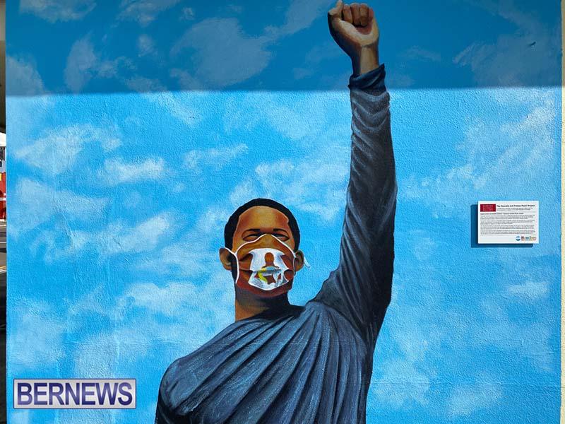 Peaceful Art Protest Mural Bermuda Jan 2021 2
