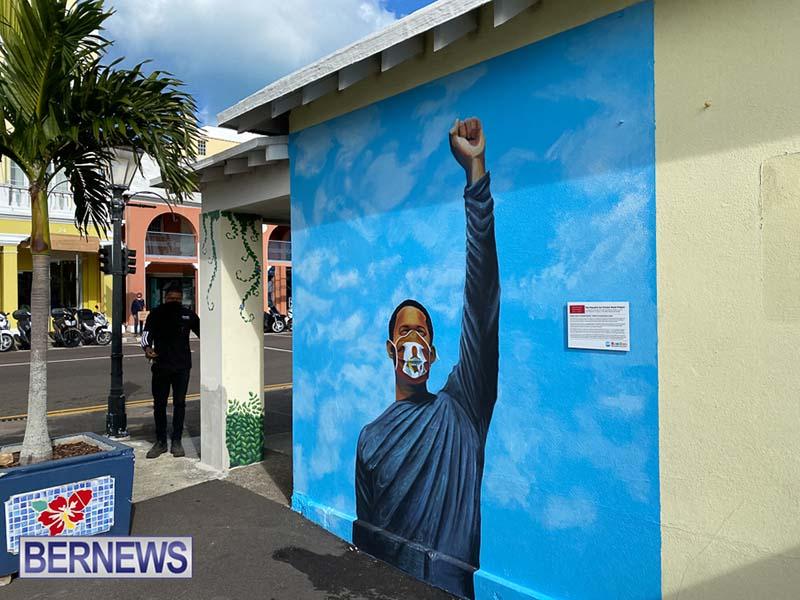 Peaceful Art Protest Mural Bermuda Jan 2021 3