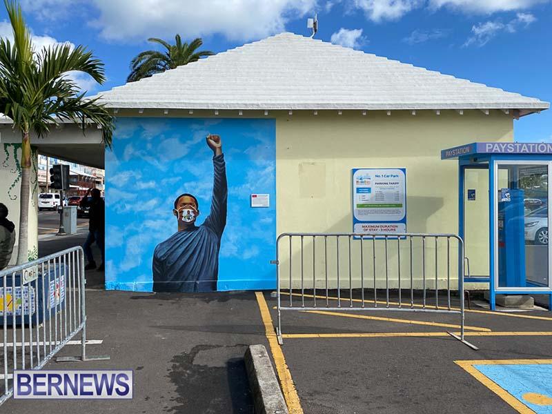 Peaceful Art Protest Mural Bermuda Jan 2021 4