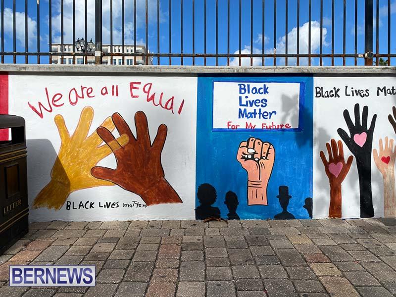 Peaceful Art Protest Mural Bermuda Jan 2021 6