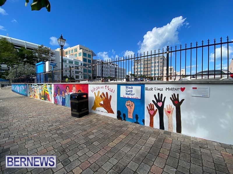 Peaceful Art Protest Mural Bermuda Jan 2021 7